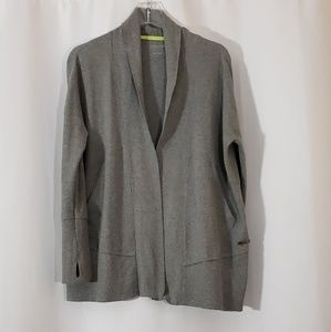 Calvin Klein Performance Sweater Gray Open Front